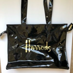 Harrods Bags - HARRODS SHOPPING TOTE BLACK EUC
